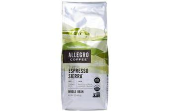 Allegro Coffee Organic Espresso Sierra Whole Bean Coffee, 350ml