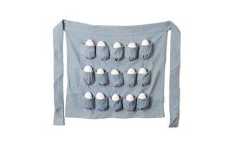 Denim Chicken Egg Apron, 15 POCKETS! Men and Women Egg Gathering and Collecting Apron.