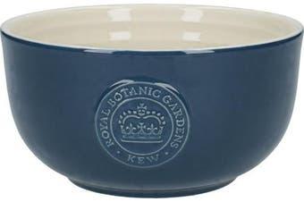 (Cereal Bowl) - Royal Botanic Gardens, Kew 'Richmond' Vintage-Style Ceramic Cereal Bowl - Navy Blue
