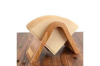(Type A) - Bamboo Coffee Filter Holder Coffee Paper Storage Rack Coffee Filter Paper Container Stand Size 4 Filter Paper Holder (Type A)