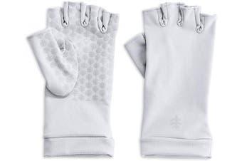 (X-Large) - Coolibar - UV resistant fingerless gloves - White