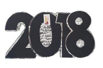 2018 New Year's Pinata Silver & Black Colour
