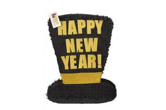 2018 Happy New Year Large Black Hat Pinata 60cm Tall