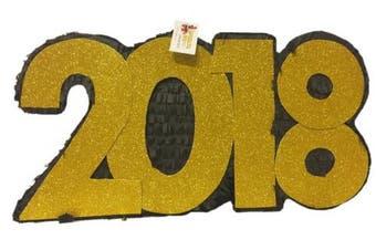 2018 New Year's Pinata Black & Gold Colour