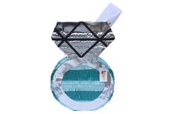 Teal & Silver Engagement/Wedding Diamond Ring Pinata / Card Holder