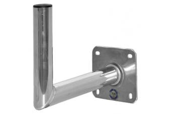 (35 cm) - A.S.Sat Wall Bracket Aluminium Stainless Steel Look