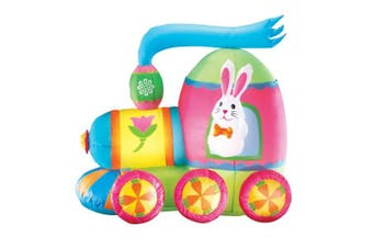 Inflatable Easter Bunny Train Outdoor Yard Decoration - 1.2m Long