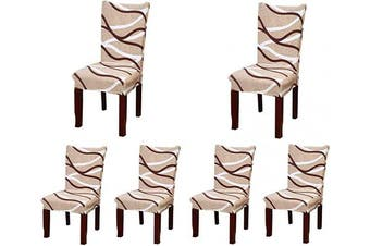 (6, Style 22) - Jiuhong Stretch Removable Washable Short Dining Chair Protector Cover Slipcover (6, Style 22)
