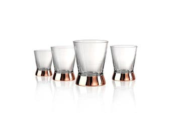 (D.O.F. Glasses, Copper) - Artland Coppertino 300ml D.O.F. Glasses - Set of 4 with Copper Plated Stems, Gift Boxed