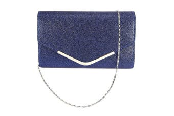 (Royal Blue) - Ladies Envelope Clutch Bag Evening Bag Bridal Wedding Bag Handbag Prom Bag
