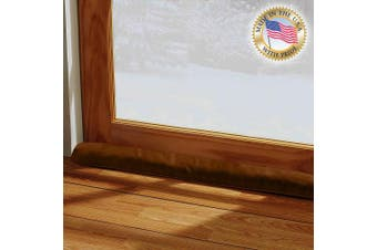 (90cm L - Single, Brown) - LAMINET - 100% Organic Natural - Brown - Door & Window Draught Stopper - Made in USA