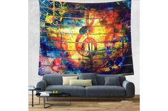 (S/130cm  x 150cm , 2#color Music) - DIPPERION Music Decor Wall Tapestry Wall Hanging Music Note Tapestry Colourful Tapestry Psychedelic Bohemian Mandala Tapestry Indian Wall Art Wall Tapestry for Bedroom Living Room Dorm Decor