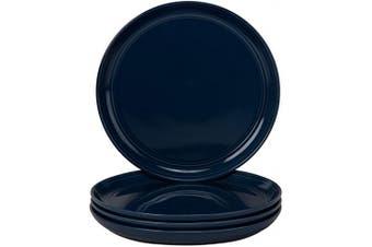 (Salad Plate, Cobalt) - 10 Strawberry Street DBL-4-CBLT-DS Double Line Salad Plates (Set of 4), 21cm , Cobalt