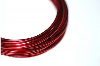 (Red) - EFCO 2 mm x 5 m 42 g Approximately Aluminium Anodised Wire, Red