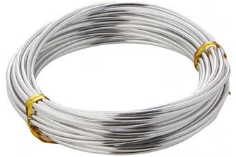 (Silver) - EFCO 2 mm x 5 m 42 g Approximately Aluminium Anodised Wire, Silver