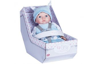 Chad Valley Tiny Newborn Treasures Outfit Doll With Blue