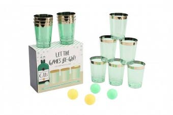 Let the Games Be-Gin Gin Pong Drinking Game - Ideal for Parties