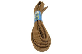 (100cm, Light Brown) - Big Laces 8mm wide Flat Cotton Shoelaces
