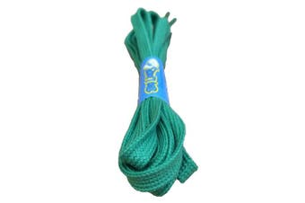 (120cm, Green) - Big Laces 8mm wide Flat Cotton Shoelaces