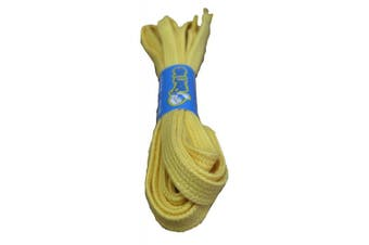 (100cm, Yellow) - Big Laces 8mm wide Flat Cotton Shoelaces