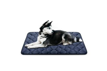 (110cm , Grey) - Dog Bed Mat Washable - Soft Fleece Crate Pad - Anti-slip Matress for Small Medium Large Pets by HeroDog