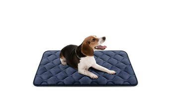 (90cm , Grey) - Dog Bed Mat Washable - Soft Fleece Crate Pad - Anti-slip Matress for Small Medium Large Pets by HeroDog