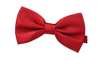(Red wine) - Amajiji Formal Dog Bow Ties for Medium & Large Dogs (D113 100% polyester)