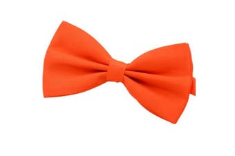 (orange) - Amajiji Formal Dog Bow Ties for Medium & Large Dogs (D113 100% polyester)