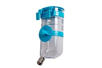 (Blue) - BXT Automatic Pet Water Bottle for Dogs Cats Rabbits Ferrets, 400ml Capacity Rear-filling Water Feeder Hanging No-Drip Water Drinking Holder- Keep Your Pet Hydrated