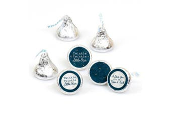 Twinkle Twinkle Little Star - Party Round Candy Stickers - Labels Fit Hershey's Kisses (1 sheet of 108)