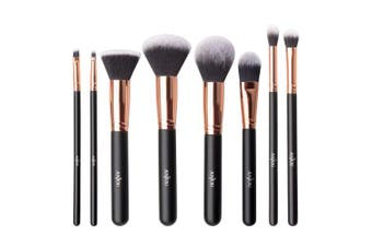 (Rose Gold) - Makeup Brush Set Anjou 8pcs Beauty Brushes with Synthetic and Vegan Bristles, for All Consistencies (Powder, Creams and Liquids)