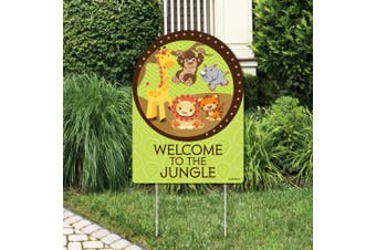 Funfari - Fun Safari Jungle - Party Decorations - Birthday Party or Baby Shower Welcome Yard Sign