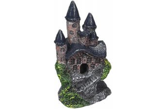 (Gray) - Penn Plax Mini Magical Castles Aquarium Ornament