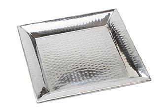 (36cm  Sq. x 2.5cm  H, Square Hammered Trays) - American Metalcraft HMSQ14 Serving Tray, Hammered, Square, Stainless Steel, 2.5cm Height, 36cm Width, 36cm Length