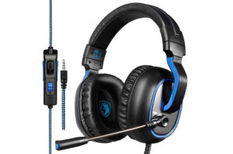 SADES R4 Gaming Headset Headphone 3.5mm Stereo Over-ear with Mic Volume Control for PC/New Xbox One/PS4/Mac