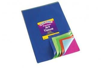 Colorations Premium Art Tissue Paper - Bleeding, 50 Sheets (Item # BBREGTIS)