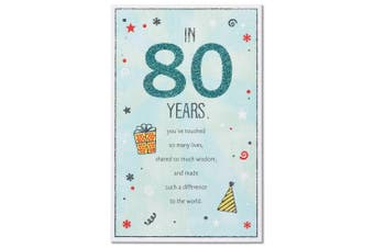 American Greetings 80th Birthday Card with Glitter