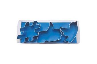 CookieCutterCom Social Media Tin Cookie Cutter 3 Pc Set L1953