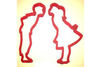Kissing Boy And Girl 2 Pc Set Plast-Clusive Cookie Cutter 11cm Pc0276