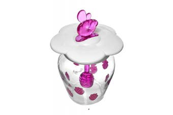 350ml Glass Jam Jar Strawberry Decor Bowl Dish Jar With Fit-in-Lid Spoon