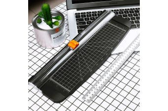 (Little Black) - Firbon A4 Paper Trimmer 30cm Titanium Paper Cutter Scrapbooking Tool with Automatic Security Safeguard for Craft Paper, Coupon, Label and Cardstock