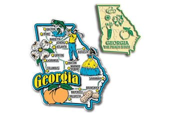 Jumbo & Small State Map Magnet Set - Georgia