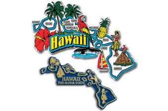Jumbo & Small State Map Magnet Set - Hawaii