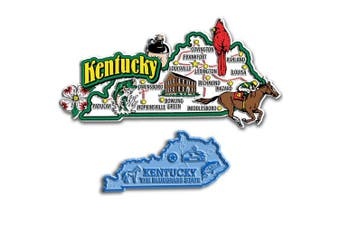 Jumbo & Small State Map Magnet Set - Kentucky