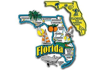 Jumbo & Small State Map Magnet Set - Florida