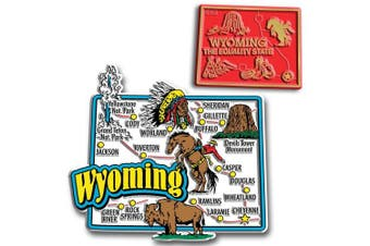 Jumbo & Small State Map Magnet Set - Wyoming