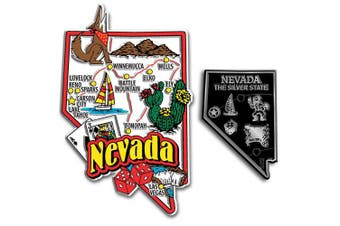 Jumbo & Small State Map Magnet Set - Nevada