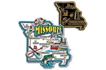Jumbo & Small State Map Magnet Set - Missouri