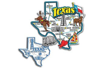 Jumbo & Small State Map Magnet Set - Texas