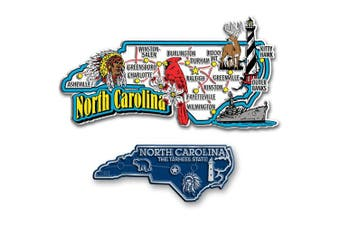 Jumbo & Small State Map Magnet Set - North Carolina